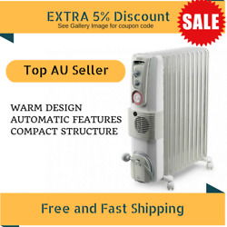 Electric Column Heater DeLonghi Radia 2400W Timer Thermostat Auto Settings New