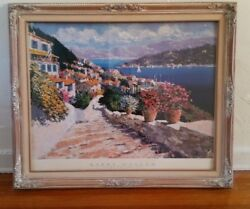 KERRY HALLAM  STEPS TO THE SEA FRAMED POSTER PRINT 1994