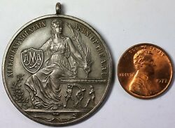 1928 Erie Boys Club Sterling Silver Wrestling Medal Seated Liberty Pendant
