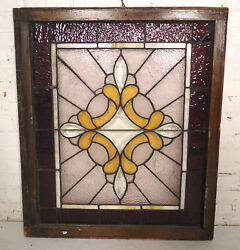 Vintage Stained Glass Window Panel 00678ns