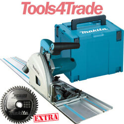 Makita Sp6000j1 165mm Plunge Cut Saw 240v + 1.5m Guide Rail + Case And 48t Blade