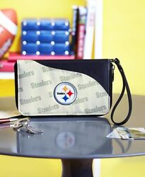 NFL Cell Phone Wallet Wristlet **6 TEAMS** Football Embroidered Purse $19.99