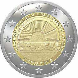 2017 Cyprus 2 Euro Uncirculated Coin Paphos European Capital Of Culture