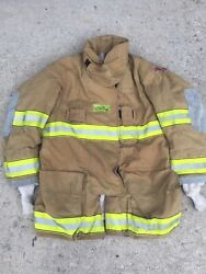 Firefighter Globe Turnout Bunker Coat 47x35 G-xtreme No Cut Out 2008