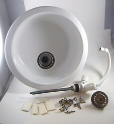 1993- 29and039 Baja Motoryacht Kitchen Sink With Faucet 18 Diameter Great Shape