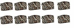 10 x Victoria's Secret VS Logo Leopard Cosmetic MAKEUP Bag BRAND NEW purse