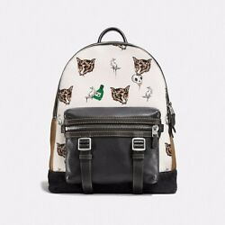 Coach 1941 Flag Backpack In Fox And Bunny pebble leather