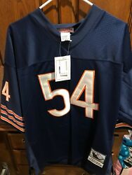 Brian Urlacher 54 Bears Reebok Authentic Stitched Mens Jersey Size Xl New 110