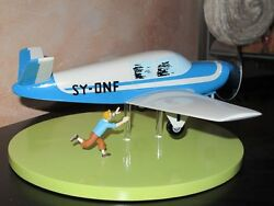 Extremely Rare Tintin Running To Catch Airplane Flying Off Le Of 1500 Statue