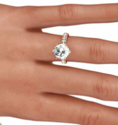 2 CT ANNIVERSARY FLAWLESS WOMEN VS1 ROUND DIAMOND RING 14K ROSE GOLD RED AWESOME