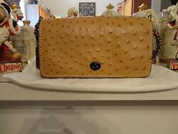 Coach Ostrich Camel Dinky 1941 NWT Sold out Limited Edition