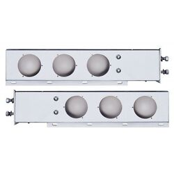 Stainless Mud Flap Hanger Set With 4 Light Cutouts Spring Loaded Pacific 22301