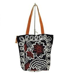 Floral Bucket Bag Purse Embroidered Wool from Peru