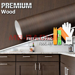 Premium Wood Grain Vinyl Wrap Sticker Car Home Kitchen Decoration Big Cut 1398