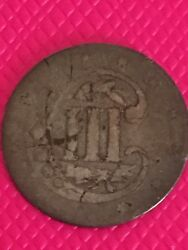 1854 Three Cent Silver Variety Ii Type Coin