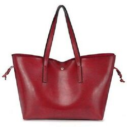 Women Leather Tote Bags Top Handle Handbags Ladies Purses Designer Shoulder Red