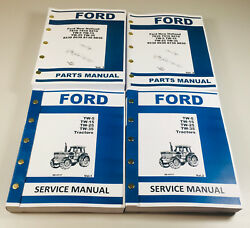 Ford Tw5 Tw15 Tw25 Tw35 Tractor Service Manual Parts Catalog Shop Book Set