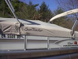 Suntracker Boat Cover P/n 184438 Signature Fishing Barge 22 Charcoal2016
