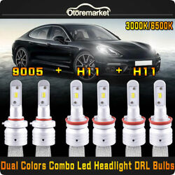 H11+9005 LED Headlight+H11 Fog Light for Toyota Camry 07-14 Sienna 11-17 2 Color