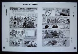 Original Production Art Justice League Of America 13 Pg 23 And 24 Mike Sekowsky