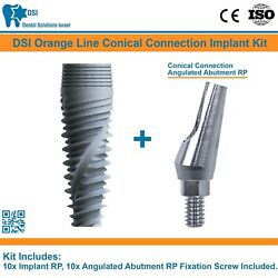 10 Dsi Dental Implant Conical Connection Nobel Active Angulated Abutment Rp Iso