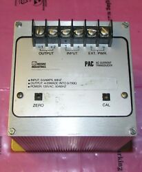 Moore Industries Pac 5a 4 20ma S 120ac Cal Sm Pac Ac Current Transducer