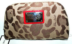 NINE WEST ANIMAL SKIN PATTERN COSMETIC TRAVEL BAG FOR WOMEN IDEAL GIFT