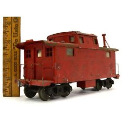 Vtg/antique Walthers No. 201 Red Caboose Wood And Metal O-gauge Train Make Offers
