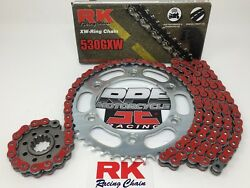 Red 2014-2017 Honda Vfr800 Rk Gxw 530 Quick Acceleration Chain And Sprocket Kit