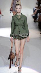Nwt Marc Jacobs Collection Runway 2200 Green Army-style Peplum Jacket/blazer 6