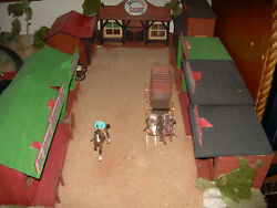 Ho Electric Trains 2 Layouts Old West Theme 1 6'6x39 Old West Theme Horses