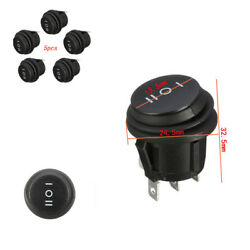 5pcs 3 Position Snap-in Round Rocker Switch ONOFFON for Auto Car Waterproof