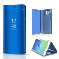 For Huawei Honor And Ascend Clear View Mirror Leather Flip Stand Smart Case Cover