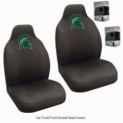 New Ncaa University Of Michigan State Spartans Car Truck 2 Front Seat Covers