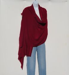 100 Cashmere|himalayan|shawl/scarf| Lightweight|1ply|4pad|handloomed|ruby Red
