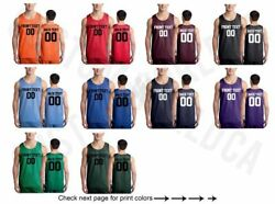 Customized Adult Jersey Team Shirts Name Number Personalized Text Basketball Tee $18.14