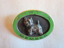 West Highland Sterling White Terrier Club of America Dog Member Pin WHWTCA