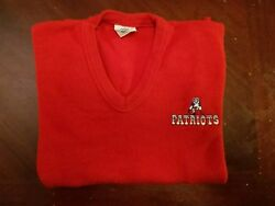 Rare Vintage Official Nfl New England Patriots Embroidered Sweater - Size Youth