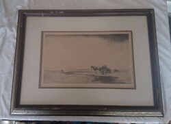 William Douglas Macleod Moray Firth Etching Ships In 24 Hours