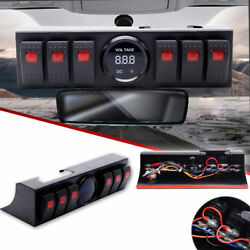 Fit 09-17 Jeep JK JKU 6 Rocker Switch Panel W Control Bracket Digital Voltmeter