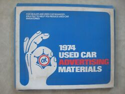 1974 Chevrolet Dealer Ok Used Car Advertising Materials Posters Signs Newspaper