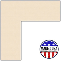 Arttoframes Custom Ivory French Creme Picture Photo Frame Mat Matting Board