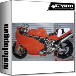 Spark 2 Exhausts High Round Homologated Inox Ducati 900 Ss 1993 93 1994 94