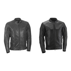 Highway 21 Mens Gunner 100 Leather Motorcycle Jacket And Armor Pick Size And Color