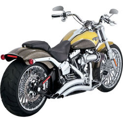 Vance And Hines Chrome Big Radius Exhaust For 2013-2017 Harley Softail Breakout