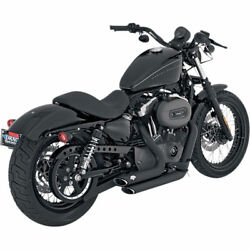 Vance & Hines Black Shortshots Staggered Exhaust for 2004-2013 Harley Sportster