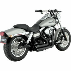 Vance & Hines Black Shortshots Staggered Exhaust for 2006-2011 Harley Dyna
