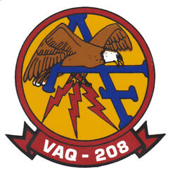 Usn Us Navy Tactical Support Wing Vaq-208 Squad Crest Logo Custom Mug Cup Stein