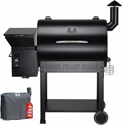 Z Grills Wood Pellet Grill Bbq Smoker Outdoor Cooking With Folding Shelf And Cover
