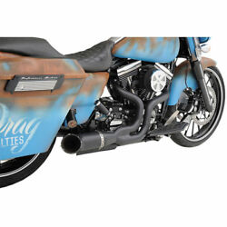 Python Rayzer 2-into-1 Exhaust For 2007-2016 Harley Touring Models Matte Black